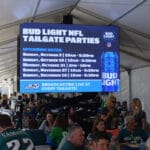LED advertising screen for Bud Light