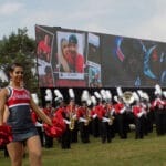 digital display at college tailgate event